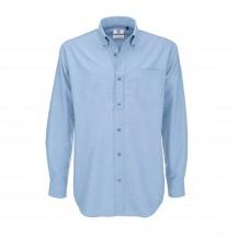 B&C Oxford LSL-men oxford blue